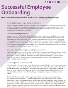 Successful employee onboarding white paper cover