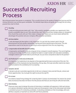 Successful recruiting process white paper cover