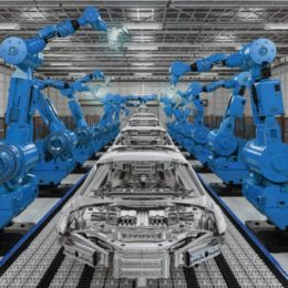 Automated automotive assembly line